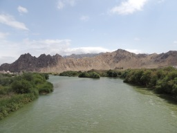Der Fluss Aras bildet die Grenze zwischen Iran und Armenien.